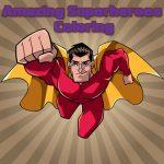 Jeu Incroyable De Super-Héros À Colorier