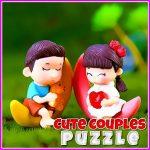 Jeu Mignon Les Couples De Puzzle