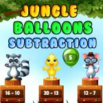 Jeu Jungle Ballons Soustraction