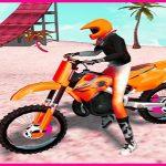 Jeu Motocross Plage De Saut De Moto Jeu De Stunt