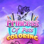 Jeu La Princesse De Coloriage Animaux De Compagnie