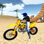 Motocross Plage Cascades de Gaz 3D