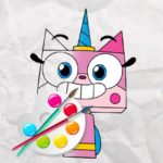 Jeu Licorne Kitty Coloring Book